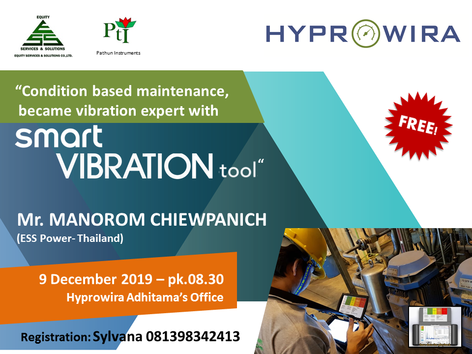 Condition based maintenance, became vibration expert with Smart Vibration tool